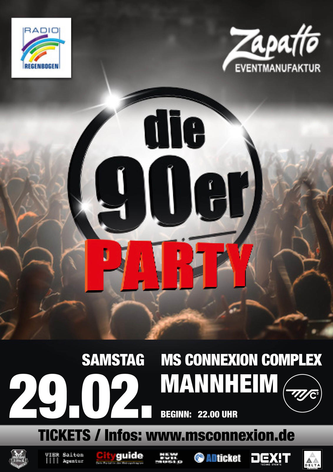 Mannheim 90er Party